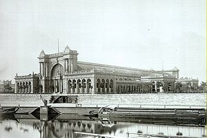 Berlin Hauptbahnhof - The Station building seen from southeast in 1879