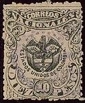 1886 10Pesos EU de Colombia Yv83 Mi88.jpg