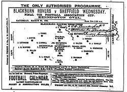 1890 FA Cup final official programme.jpg