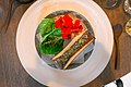 18 Roasted Bone Marrow, Cabbage, and Nasturtium Flowers (15484574585).jpg