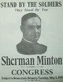 1920 Sherman Minton Democratic Primary campaign poster.jpg