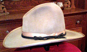 1920s Stetson carlsbad cowboy hat side view