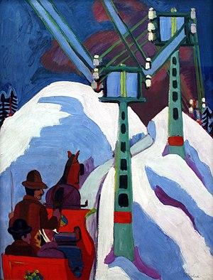1923 in art - Image: 1923 Kirchner Schlittenfahrt anagoria