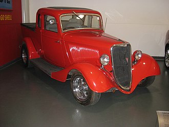 Coupé utility - 1934 Ford, the first coupe utility model. On display at the National Motor Museum, Birdwood, South Australia