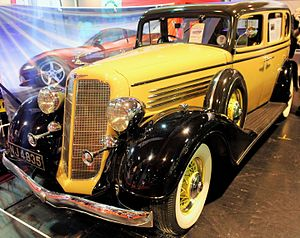 General Motors Canada - 1934 McLaughlin Buick RHD series 50 model 57 NEC Motor Show, Birmingham UK