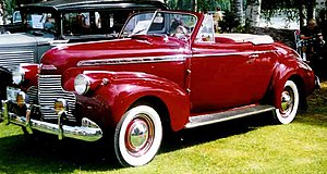 GM A platform (1936) - 1940 Chevrolet Special Deluxe convertible