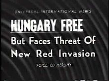 1 November newsreel about the situation in Hungary
