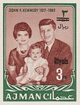 1964 stamp of Ajman JFK 6.jpg