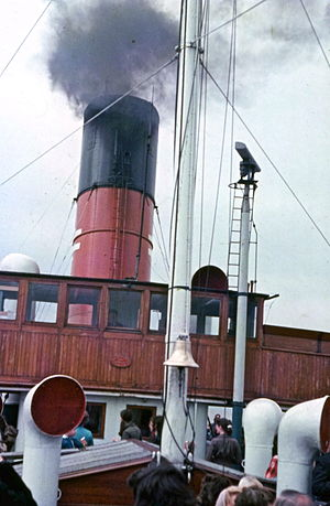 PS Lincoln Castle - crossing the Humber in 1975