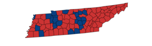 United States presidential election in Tennessee, 1984 - Image: 1984 President Tennessee