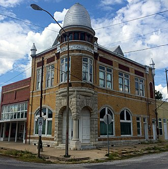 National Register of Historic Places listings in Garvin County, Oklahoma - Image: 1st National Bank Stratford OK