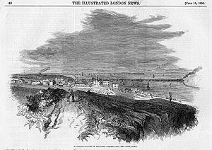 Herne Bay Pier - First pier, by Edmund Evans, 1850