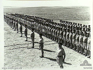 2/6th Cavalry Commando Regiment (Australia) -  Parade of the 6th Australian Divisional Cavalry Regiment at Casa camp, September 1941.