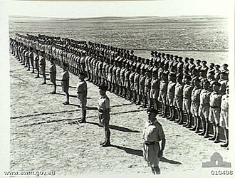 2/6th Cavalry Commando Regiment (Australia) - Parade of the 6th Australian Divisional Cavalry Regiment at Casa camp, September 1941.