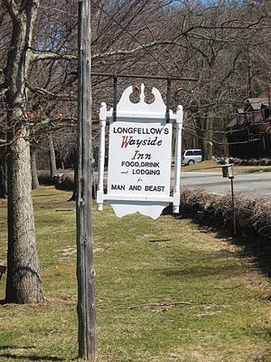 Tales of a Wayside Inn - Sign for Longfellow's Wayside Inn, where the collection takes place