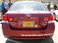 2010 red Subaru Legacy rear.JPG