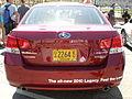 2010 red Subaru Legacy rear.JPG