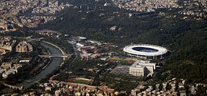 Stadio Olimpico - The Stadio Olimpico from above