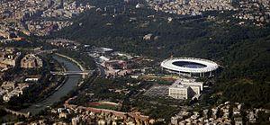 Stadio Olimpico - The Stadio Olimpico from above