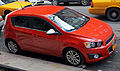 2012 Chevrolet Sonic LT top, front right side view.jpg