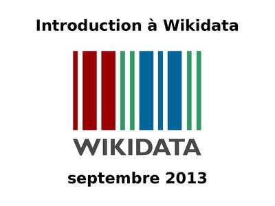 2013-09 Introduction à Wikidata