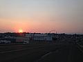 2014-09-09 18 42 06 Smokey sunset on 5th Street (Nevada State Route 227) in Elko, Nevada.JPG