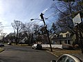 2014-12-30 13 37 40 Leaning utility pole and street light at Maple Avenue and Patton Drive in Ewing, New Jersey.JPG