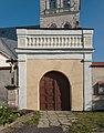 2014 Gorzanów, kościół św. Marii Magdaleny, ogrodzenie 03.JPG