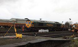 2014 Taunton track renewals - Freightliner 66585.JPG