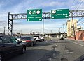2016-03-12 16 17 58 View north along U.S. Route 1 and U.S. Route 9 (Tonnele Avenue) at the junction with New Jersey State Route 3 (Secaucus Bypass) in North Bergen Township, Hudson County, New Jersey.jpg