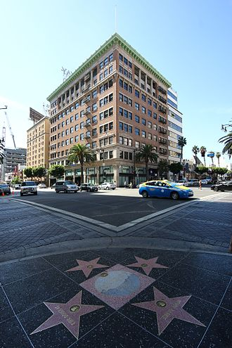 Hollywood and Vine - The Broadway Hollywood Building at the southwest corner