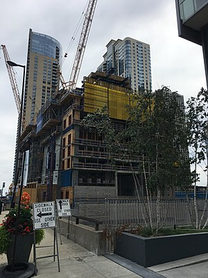 Vista Tower (Chicago) - Construction site (August 13, 2017)