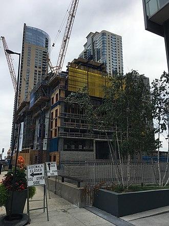 Vista Tower (Chicago) - Construction site (August 13, 2017)