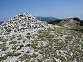2018-08-29 (148) Rock stack landmarks and view to Schneeberg at Rax, Austria.jpg