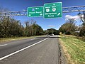 2018-10-12 11 28 48 View west along Interstate 66 at Exit 23 (U.S. Route 17 NORTH, TO WEST Virginia State Route 55, Delaplane, Paris) in Delaplane, Fauquier County, Virginia.jpg