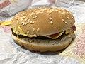 2019-02-28 21 45 10 A Burger King cheeseburger in Oak Hill, Fairfax County, Virginia.jpg