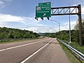2019-05-17 12 21 44 View west along Interstate 68 and U.S. Route 40 (National Freeway) at Exit 56 (Maryland State Route 144-National Pike, Flintstone) in Flintstone, Allegany County, Maryland.jpg