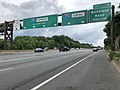 2019-06-18 12 46 01 View north along Interstate 270 (Washington National Pike) at the split between the Express Lanes and the Local Lanes on the edge of North Betheda and Potomac in Montgomery County, Maryland.jpg
