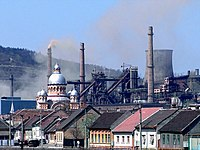 Present time view of a small part of the Reșița Steelworks