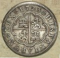 "2 Reales (Plata) de Felipe V con ""ceca"" de Segovia 1723.jpg"
