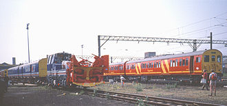 Rail Express Systems - Image: 302 Royal Mail Red & Snowtrain Ilford Depot Open Day May 1989