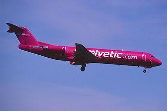 Helvetic Airways - Helvetic Airways Fokker 100 in former livery