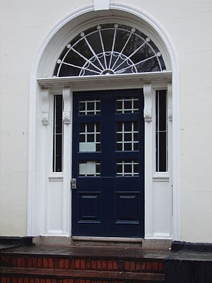 Grove House, Manchester - Doorcase with fanlight