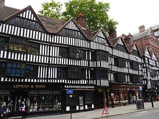 Staple Inn Tudor building on High Holborn, London, UK, which is the last surviving Inn of Chancery