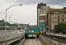 W Chester Bypass Westbound US 30 on the Penn-Lincoln Parkway (also I-376 and US 22 ) in ...