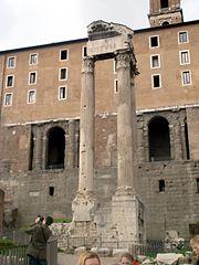 4718 - Roma - Fori - Tempio di Vespasiano - Foto Giovanni Dall'Orto - 17-Mar-2008.jpg