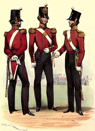 53rd (Shropshire) Regiment of Foot - Regimental uniform, 1840s