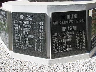 Operation Askari - Roll of 61 Mechanised personnel killed during Askari.