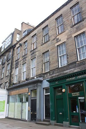 John Leslie (physicist) - Leslie's home at 62 Queen Street, Edinburgh