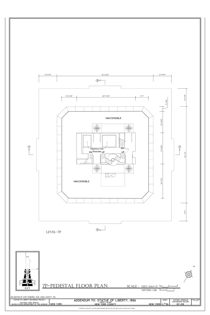 file 7p pedestal floor plan statue of liberty liberty island Line Windows 7 file 7p pedestal floor plan statue of liberty liberty island manhattan new york new york county ny haer ny 31 neyo 89 sheet 11 of 36